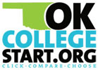 OK College Start logo. Click, compare, choose.